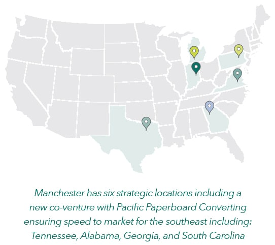 Manchester has six strategic locations.